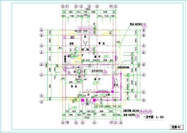 点击查看某地上三层小型别墅建筑施工图  建筑面积:419㎡ 建筑高度:9米第1张大图