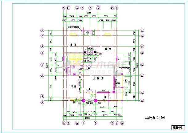 点击查看某地上三层小型别墅建筑施工图  建筑面积:419㎡ 建筑高度:9米第2张大图