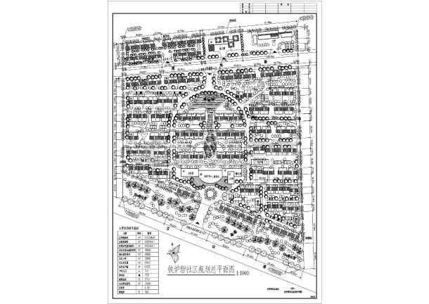 某居民社区景观规划设计总图,共6张-图一