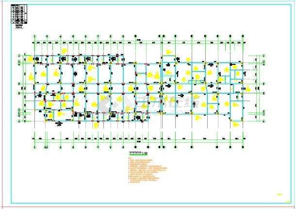 某地上七层框架结构医院结构施工图纸(预应力管桩)-图二