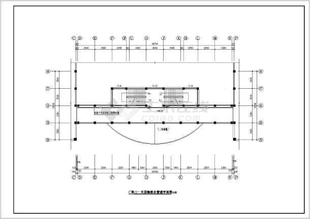 某教学楼给排水管道系统施工图-图二