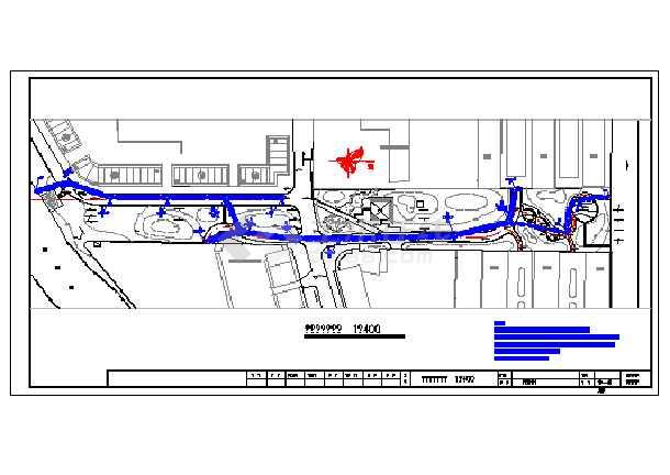 某环境给排水设计cad详图,共4张-图一