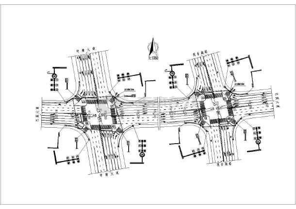 城市道路交通工程布置图(共14张图纸)-图二