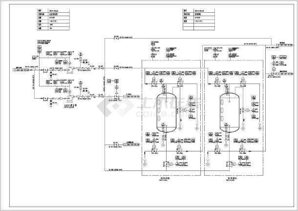 某污水厂工艺流程图及平面布置设计图-图二