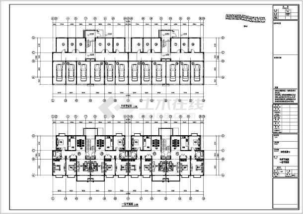某地6层框架结构住宅平立剖CAD方案图-图一