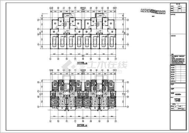 某地6层框架结构住宅平立剖CAD方案图-图二