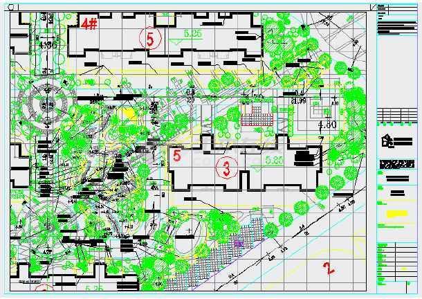 上海奥林匹克花园首期第一组团景观设计套图-图一