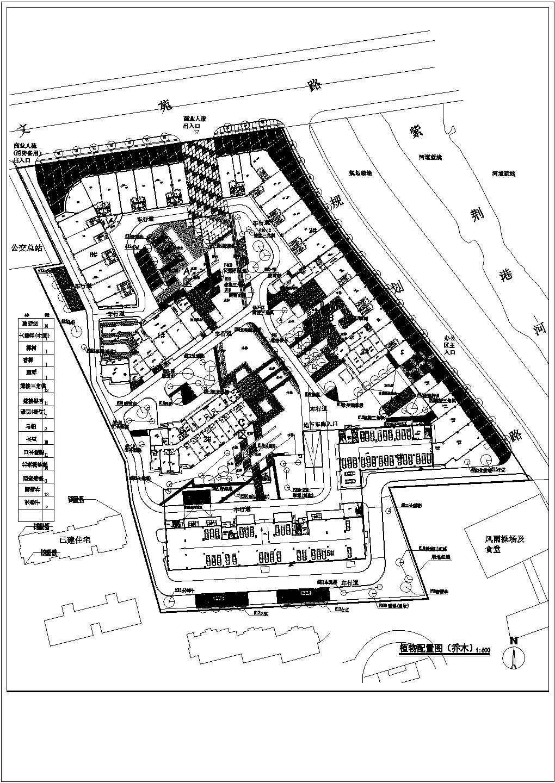 杭州某住宅小区给排水规划设计总图,共8张图片1