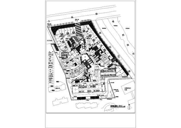 杭州某住宅小区给排水规划设计总图,共8张-图一
