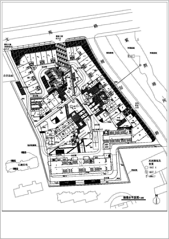 杭州某住宅小区给排水规划设计总图,共8张图片2