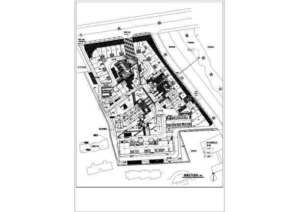 杭州某住宅小区给排水规划设计总图,共8张-图二