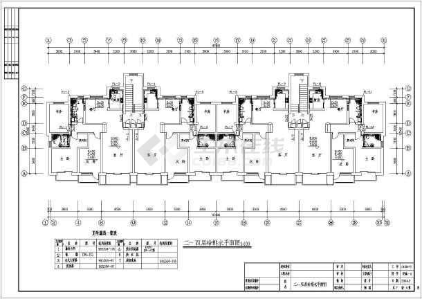 地上五层住宅给排水设计cad图,含设计说明-图一