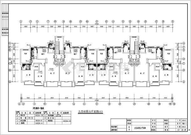 地上五层住宅给排水设计cad图,含设计说明-图二