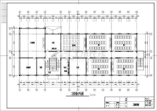 河北某小学给排水设计平面图-图二
