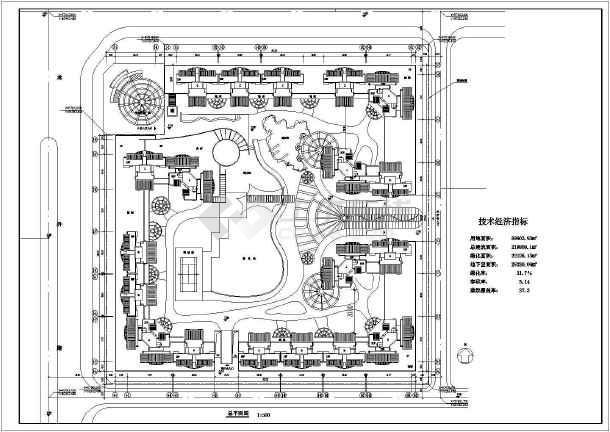 高层住宅小区平面规划图(共4张图纸)-图一