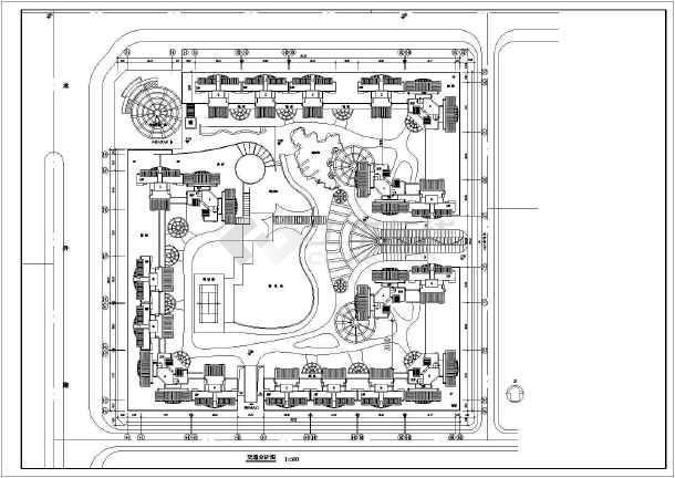 高层住宅小区平面规划图(共4张图纸)-图二