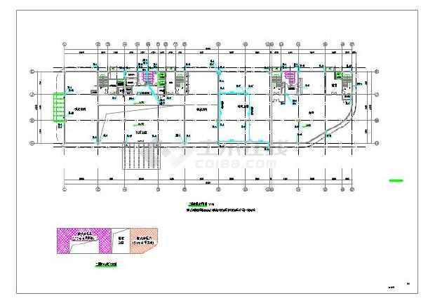 景岗山三建国贸研发大楼给排水设计施工图-图一