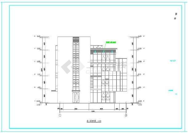 某产业园景观桥及园区楼群夜景亮化工程电气施工图-图一