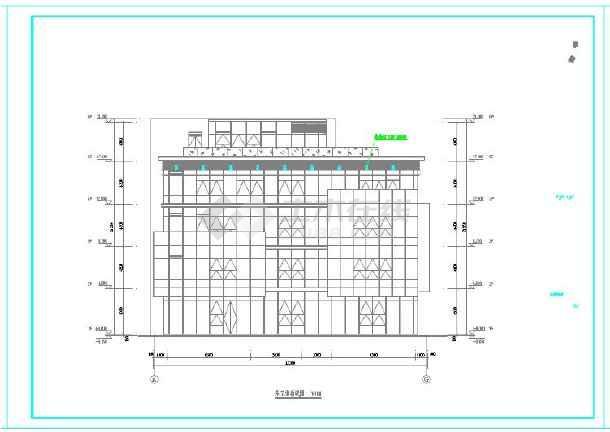 某产业园景观桥及园区楼群夜景亮化工程电气施工图-图二
