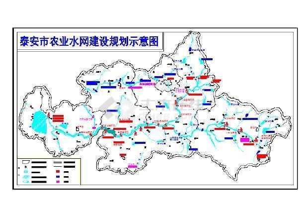 点击查看某河道拦蓄规划设计cad图第1张大图