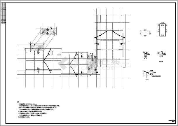 某三层四合院结构设计施工图-图一