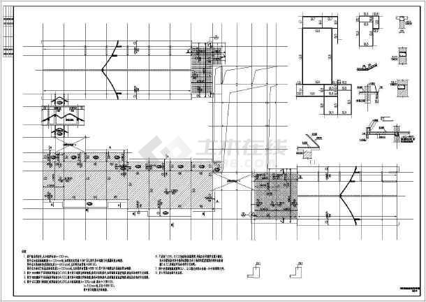 某三层四合院结构设计施工图-图二