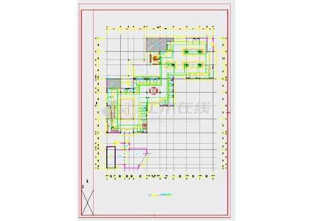 某地农贸市场内装饰工程-给排水图(地上2层,总建筑面积3823平方米)-图一