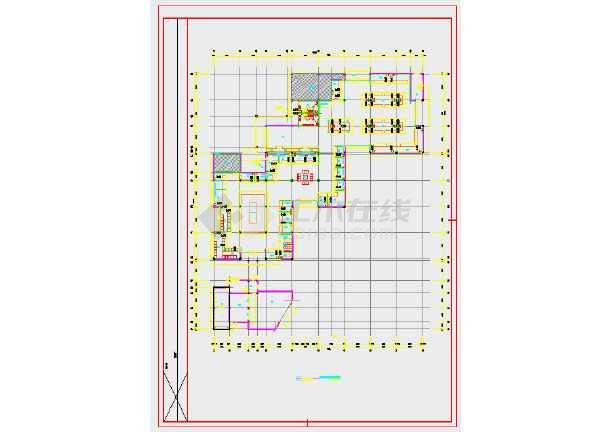 某地农贸市场内装饰工程-给排水图(地上2层,总建筑面积3823平方米)-图二