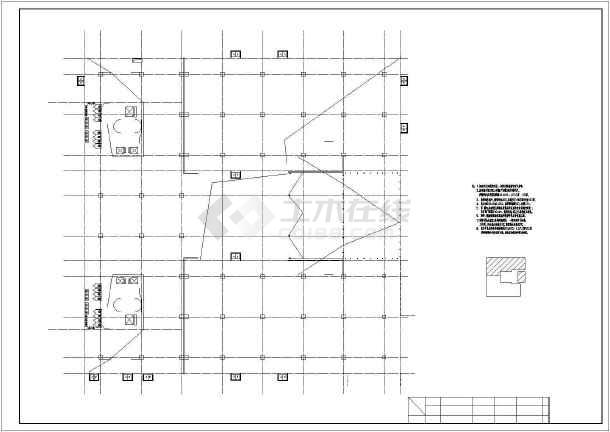 某十层生物科技产业园区7号楼 建筑施工图(一层建筑面积3395平方米)-图二
