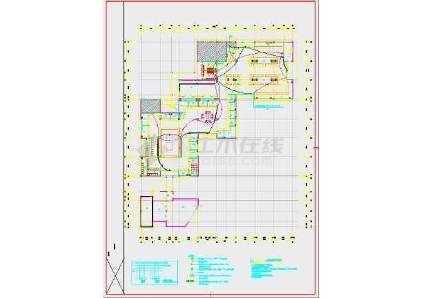 某地农贸市场内装饰工程--电气图(地上2层,总建筑面积3823平方米)-图二