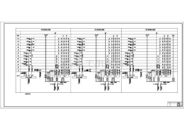 高层住宅电气系统设计图-图二