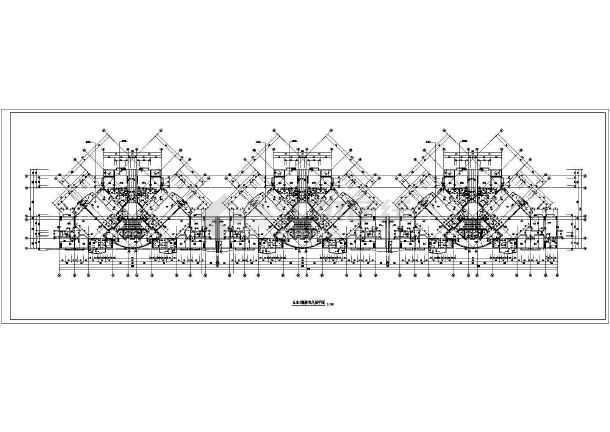 某高层住宅标准层cad平面图-图一