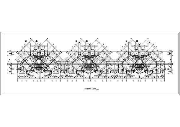 某高层住宅标准层cad平面图-图二