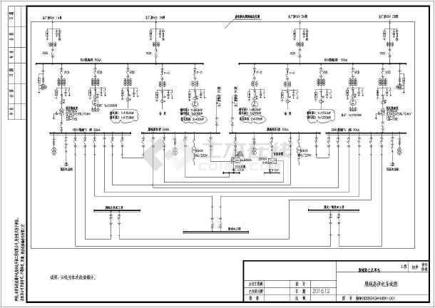 大电厂脱硫总包工程电气图纸-图一