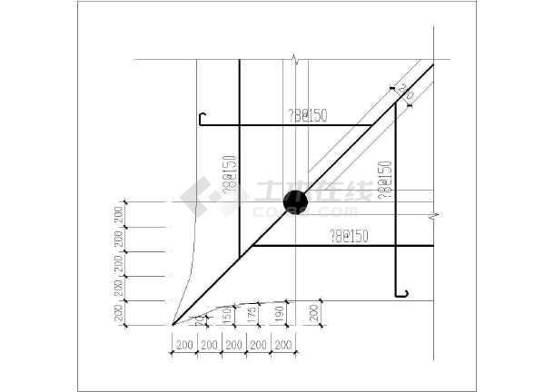 点击查看古建四角亭施工设计cad详图第1张大图