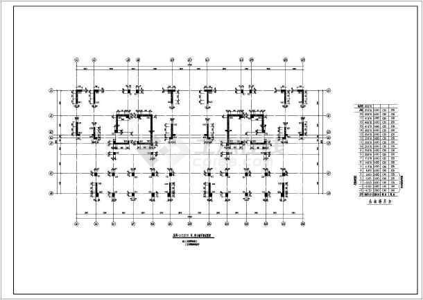 高层框架剪力墙结构施工图-图一