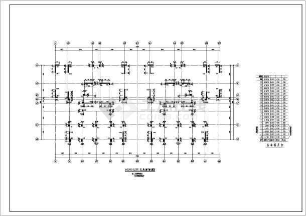 高层框架剪力墙结构施工图-图二