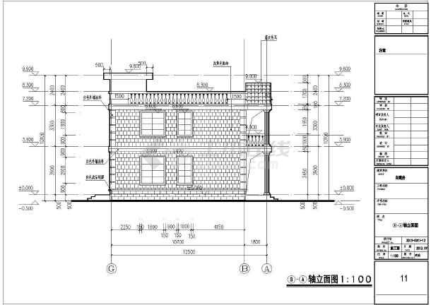 某框架结构自建别墅设计图  单体建筑面积:320平方米 基底占地面积:160平方米-图一
