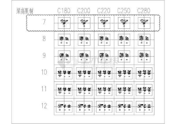 点击查看钢结构屋面檩条节点设计图  高度180mm~280mm第1张大图