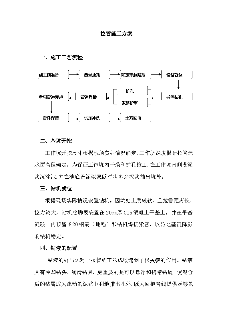 拉管施工方案(适合施工、设计单位)-图一