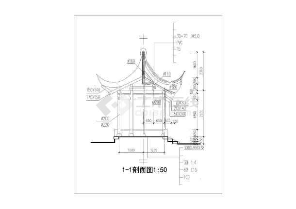 点击查看古建亭子建筑方案图系列-六角亭第2张大图