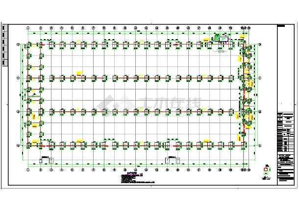 有吊车的三跨门式刚架(建筑+结构)-图二