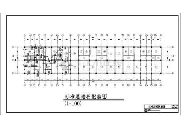 某综合楼结构施工CAD图纸-图一