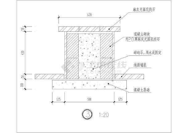 点击查看某休闲廊结构设计cad大样图第1张大图