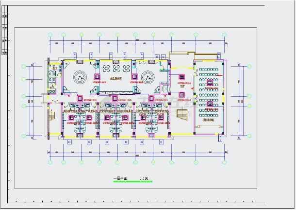 """点击查看某市科研办公综合楼""""暖通设计图""""第1张大图"""