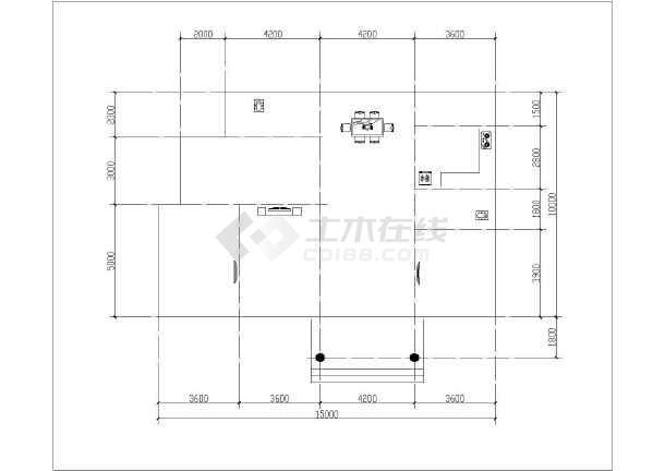 点击查看某两层独栋别墅设计CAD图   一层 建筑面积:152.59平方米、二层建筑面积:134.35平方米第2张大图