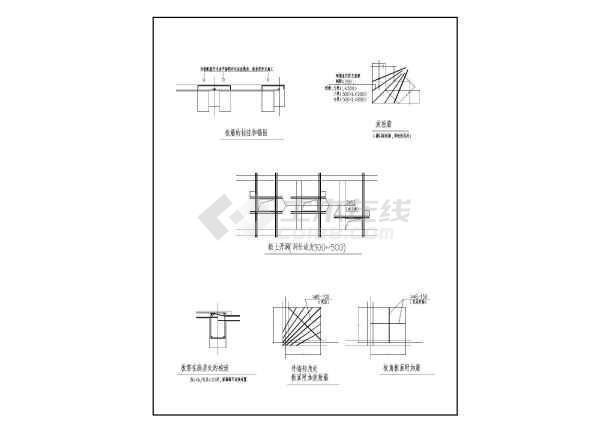 某框架结构板的构造节点详图-图一