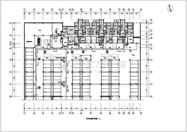 某小区水源热泵机房及地下车库暖通设计图纸  住宅及商业建筑总面积为39807平方米-图一