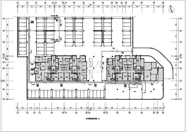 某小区水源热泵机房及地下车库暖通设计图纸  住宅及商业建筑总面积为39807平方米-图二