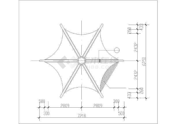 仿古风格六角重檐古建亭设计cad详图-图一